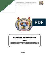 Carpeta Pedagogica Del Estudiante 2019-i Economia
