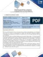 Syllabus Del Curso de Emprendimiento  UNAD 2019 212024