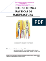 1. Manual de Buenas Practica de Manufactura Plan de Saneamiento Basico