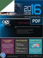 Ogs - 2016 Training Calendar