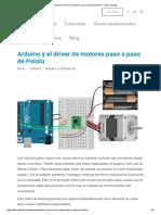 Arduino y El Driver de Motores Paso a Paso de Pololu – Fábrica Digital