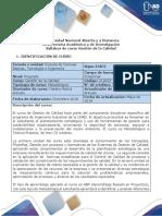 Syllabus Del Curso Gestión de La Calidad 212023 UNAD