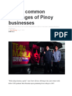7 Most Common Challenges of Pinoy Businesses
