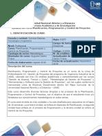 Syllabus Del Curso Planificación Programación y Control de Proyectos-UNAD