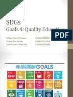 Goals 4th Sustainable Development Goals (SDGs)