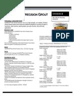Data_sheet Non Shrink Precision Grout 1585 00