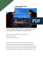 El Domo de Brunelleschi