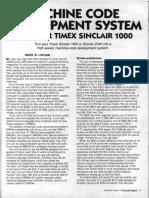 TS1000 Machine Code Development System