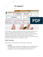 Swot and Pest