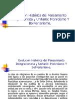 Presentación Sobre Pensamiento Integracionista y Unitario