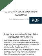 Komponen Wajib Dalam Rpp Adiwiyata