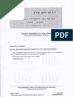 Malaysian University English Test (MUET Paper 3) End-Year 2010
