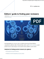Publons - Editors' Guide to Finding Peer Reviewers
