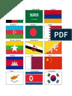 Banderas de Paises de Asia