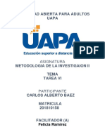 Tarea 6 de Metodologia de La Investigacion II Carlos Baez