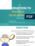 Intro to Personal Dev't
