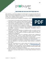 Términos y Condiciones Cryptobuyer Pay Versión 1.1