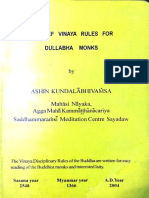 1149. A Brief Vinaya Rules for Dullabha Monks (Ashin Kundalabhivamsa)