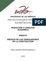 Riesgos de Los Trabajadores de La Construccion v2 Corregida