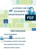 STUDY ON COE STUDENTS' CAR MAINTENANCE PRACTICE