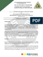 39th ANC IIEE CSC 12th PEC Quiz Show 1st CIENSCIA Quiz Show Concept Paper 1