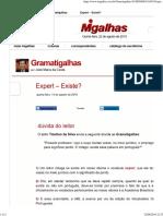 Expert – Existe_ - Gramatigalhas