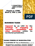 1. Business and Other Local Taxes