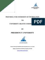 UGC Proforma Presidency University 1