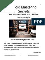Audio Mastering Secrets FREE PDF