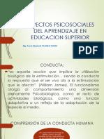 Aspectos Psicosociales Del Aprendizaje en Educacion Superior