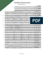 Fehrbelliner Reitermarsch-Partitura y Partes