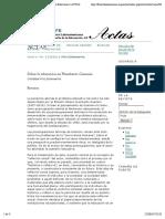 Sobre la educación en Humberto Giannini | Friz Echeverría | ACTAS