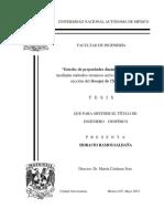 Estudios de proiedades Dinamicas de un Talud
