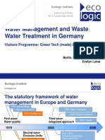 Prasentation Evenlyn Water Management in Germany and Waste Water Treatment
