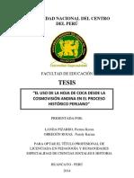 El Uso de La Coca Desde La Cosmovision Andina en El Proceso Historico Peruano - 2014