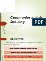 Ceremonies in Kab Scouting