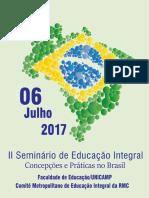Seminário educação integral