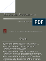 Introducing Programming