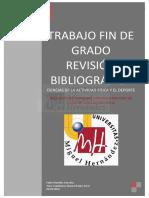 Trabajo de fin de grado Revisión bibliográfica Ciencias de la actividad física y el deporte