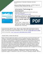 Building Collective Capabilities Through