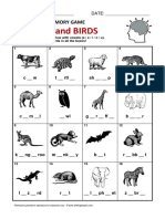 Memory Game Animals Birds
