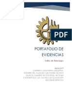 TALLER de ETICA Portafolio de Evidencias