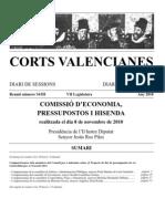 Comissió d'Economia, Pressupostos i Hisenda Generalitat 2011