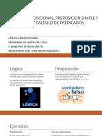 Logica Proposicional, Preposicion Simple y Compuesta y