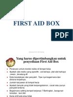 13. First Aid Box