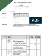 Course & Unit Plan OBG III BSc