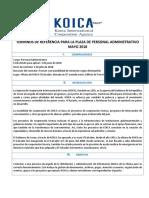 Tdr Plaza Administrativa Koica 2018