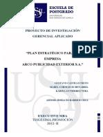 2015 Castillo Plan Estrategico Para La Empresa