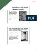 Características Mecánicas de los Materiales del hormigon armado