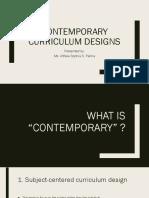 Contemporary Curriculum Designs